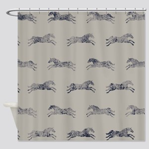 Classic Horse Pattern Shower Curtain