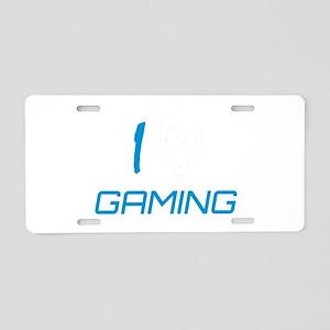 i heart gaming Aluminum License Plate