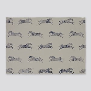 Classic Horse Pattern 5'x7'Area Rug
