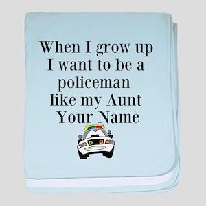 Policeman Like My Aunt baby blanket