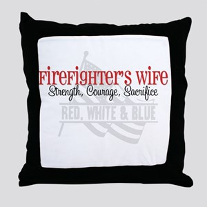 Strength,Courage,Sacrifice Throw Pillow