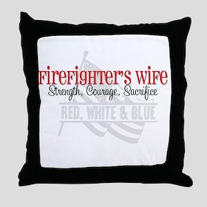 Strength,Courage,Sacrifice Throw Pillow