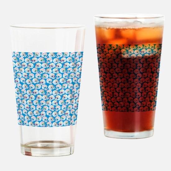 Sugar Skulls Drinking Glass