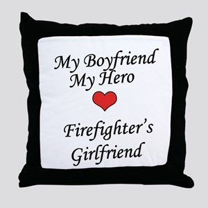 Firefighter's Girlfriend Throw Pillow