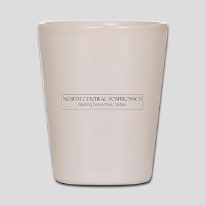 North Central Positronics black Shot Glass