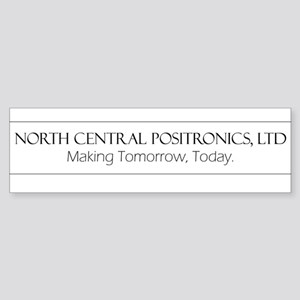 North Central Positronics black Bumper Sticker