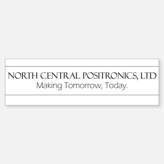 North Central Positronics black Bumper Bumper Bumper Sticker