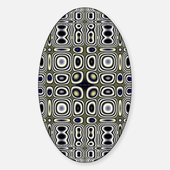 Groovy Pattern Sticker (Oval)
