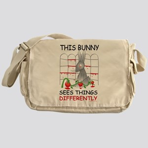 This Bunny Sees Things Differently Messenger Bag