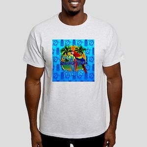 Island Time Surfing Tiki Light T-Shirt