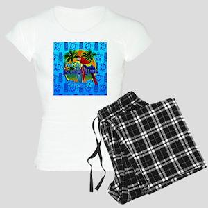Island Time Surfing Tiki Women's Light Pajamas