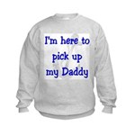 USN I'm here to pick up my Daddy ver2 Kids Sweats