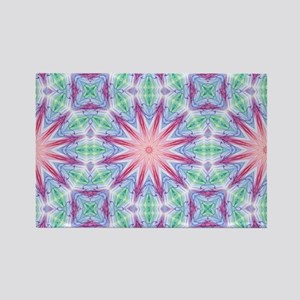 Colorful Spiderweb Rectangle Magnet