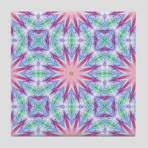 Colorful Spiderweb Tile Coaster