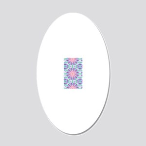 Colorful Spiderweb 20x12 Oval Wall Decal