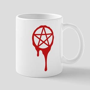 pentagram, pagan, blood, wicca Mugs