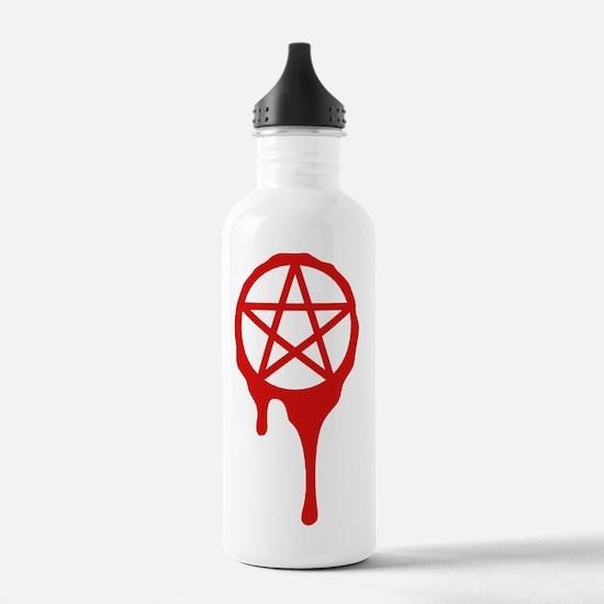 pentagram, pagan, bloo Water Bottle