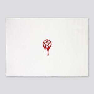 pentagram, pagan, blood, wicca 5'x7'Area Rug