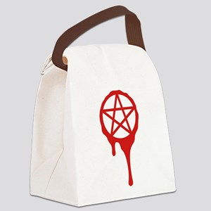 pentagram, pagan, blood, wicca Canvas Lunch Bag