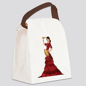 spanish flamenco dancer Canvas Lunch Bag