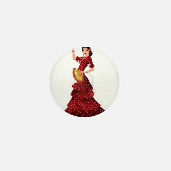 spanish flamenco dancer Mini Button