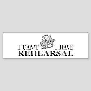Rehearsal with Drama Masks Bumper Sticker