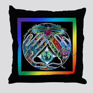 Five Elements Square Throw Pillow