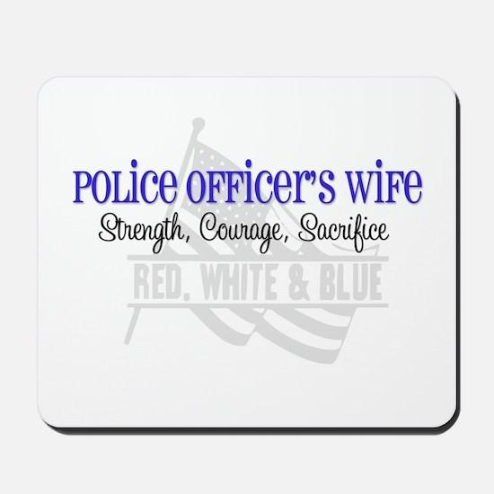 Strength,Courage,Sacrifice Mousepad