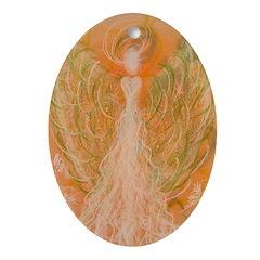 Manifestation Angel Oval Ornament