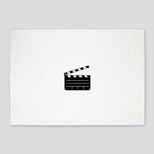 clapperboard 5'x7'Area Rug