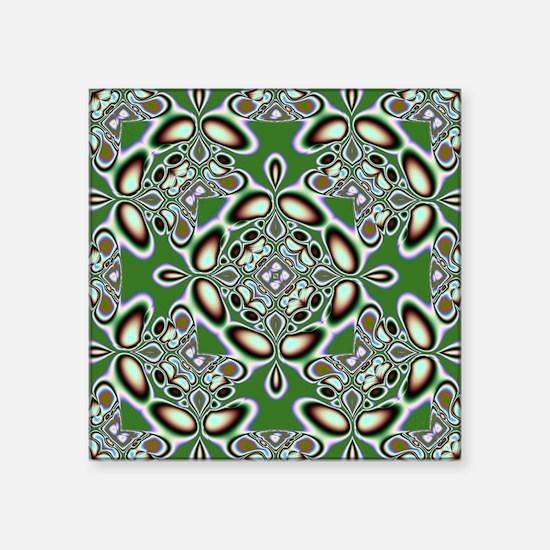 "Groovy Pattern Square Sticker 3"" x 3"""