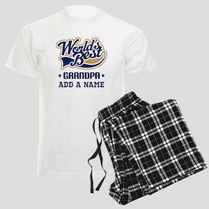 Personalized Worlds Best Grandpa Pajamas