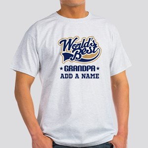 Personalized Worlds Best Grandpa T-Shirt