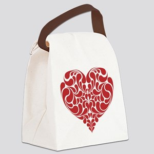 Real Heart Canvas Lunch Bag