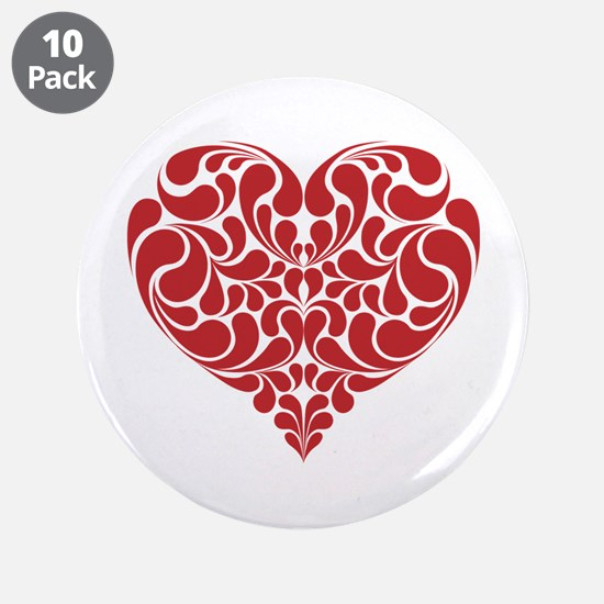 """Real Heart 3.5"""" Button (10 pack)"""