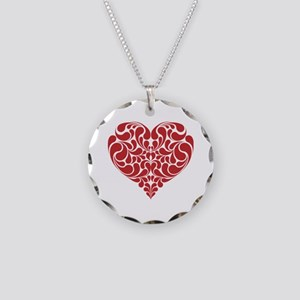 Real Heart Necklace Circle Charm