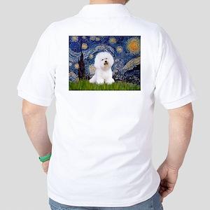 Starry Night Bichon Golf Shirt