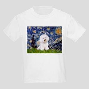 Starry Night Bichon Kids Light T-Shirt