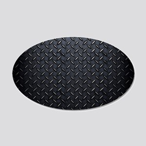 Black Diamond Plate Design Wall Decal