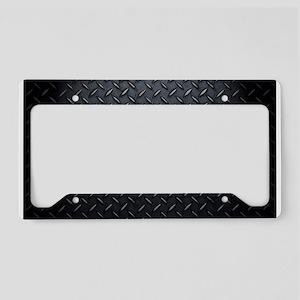 Black Diamond Plate Design License Plate Holder