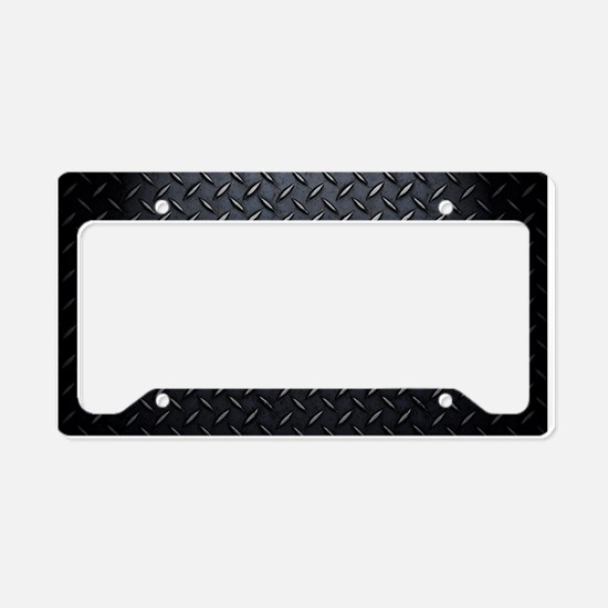 Black Diamond Plate Design License Plate Holder