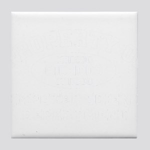 Property Of Computer Science Bag - Co Tile Coaster