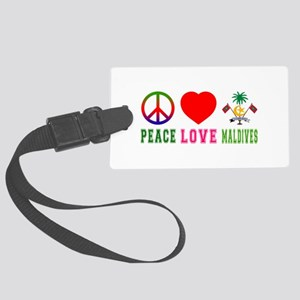 Peace Love Maldives Large Luggage Tag