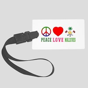 Peace Love Maldives Large Luggage Tag
