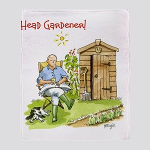 Head Gardener! Throw Blanket