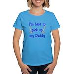 USN I'm here to pick up Daddy ver4 Women's Dark T