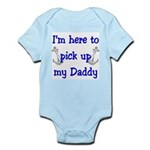 USN I'm here to pick up Daddy ver4 Infant Bodysui