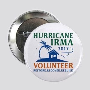 "Hurricane Irma Volunteer 2.25"" Button"
