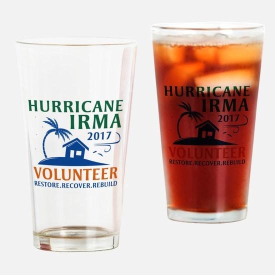 Hurricane Irma Volunteer Drinking Glass