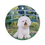 Bridge & Bichon Ornament (Round)